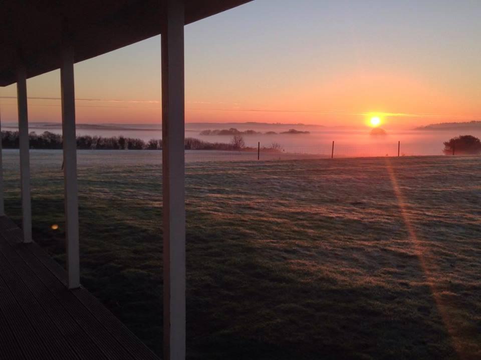 Milborne st Andrew Pavilion Sunrise
