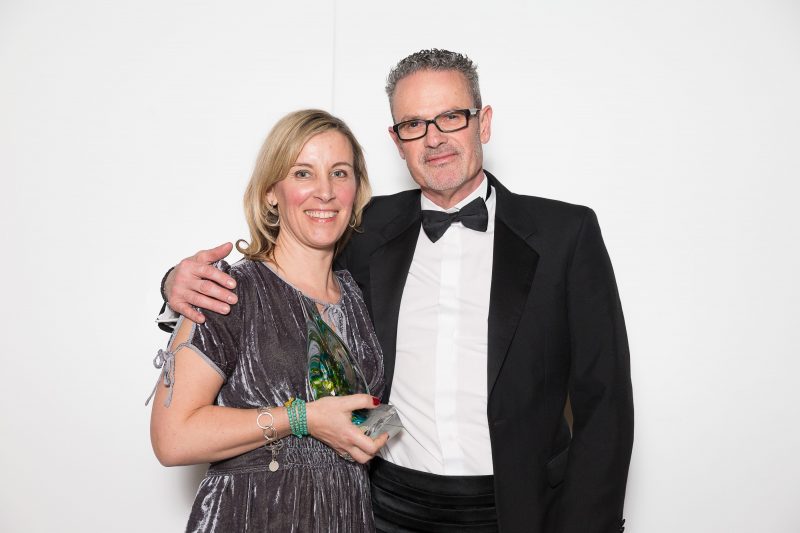 Saira and husband Stoo winning Silver at the South West Tourism Awards 2018