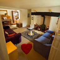 Relax in Luccombe Cottage during your retreat or wellbeing day