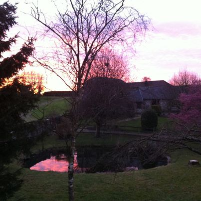 Sunset at Mellulah, Luccombe Farm