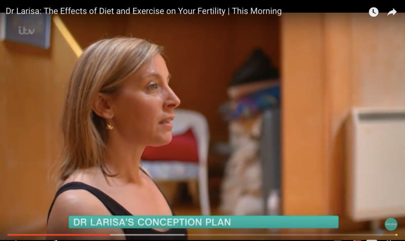 Fertility yoga with Saira on ITV's This Morning